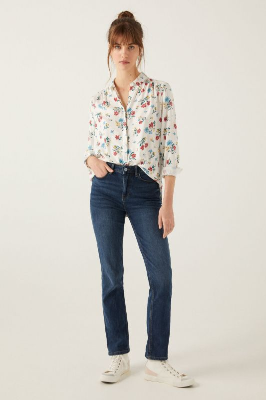 Printed floaty blouse