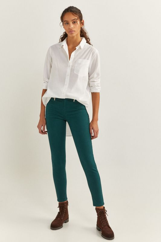 High Rise Zips Trousers