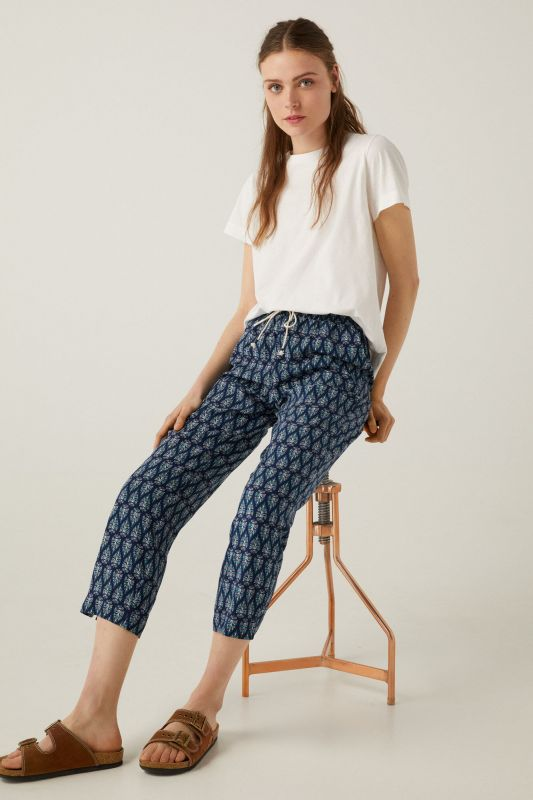 Floaty printed trousers