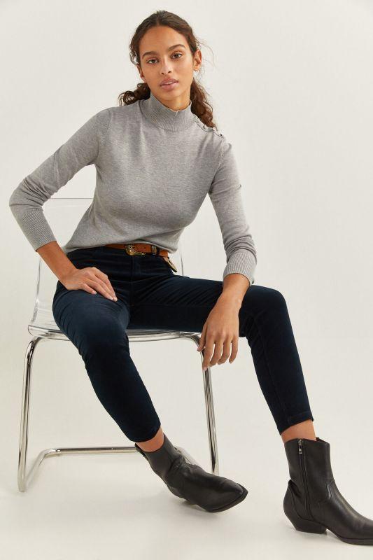 High Rise Micro Corduroy Trousers