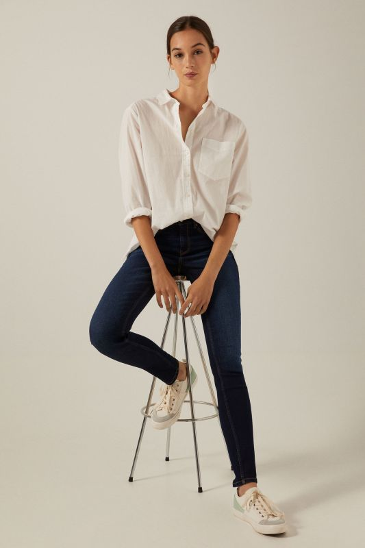Sustainable wash slim recycled cotton jeans