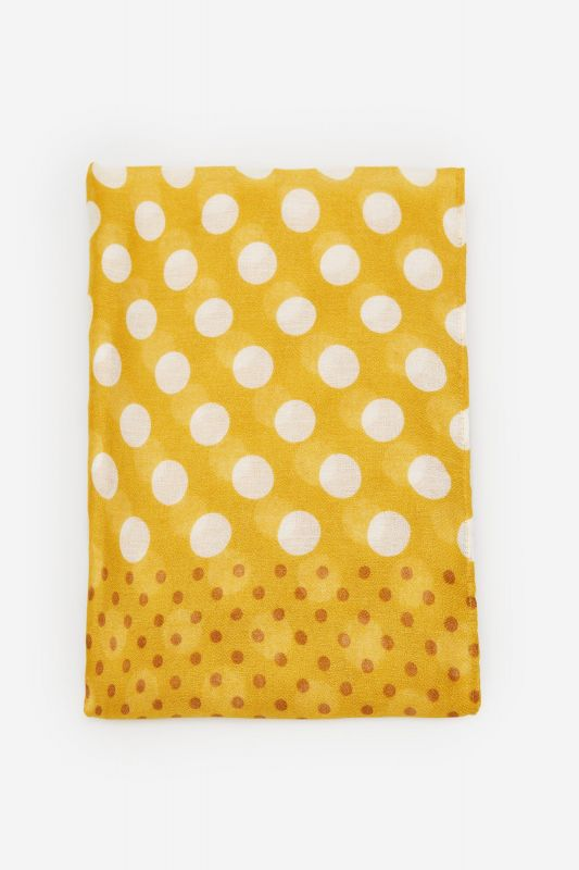 Polka-dot fine scarf