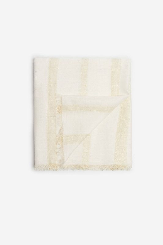 CHECKED TEXTURED SCARF WITH LUREX