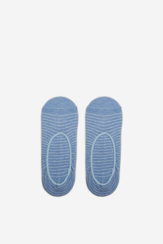 Striped no-show socks