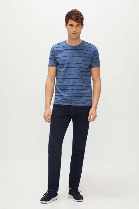 Slim fit 5-pocket coloured jeans in COOLMAX ECOMADE ALL SEASON® fabric