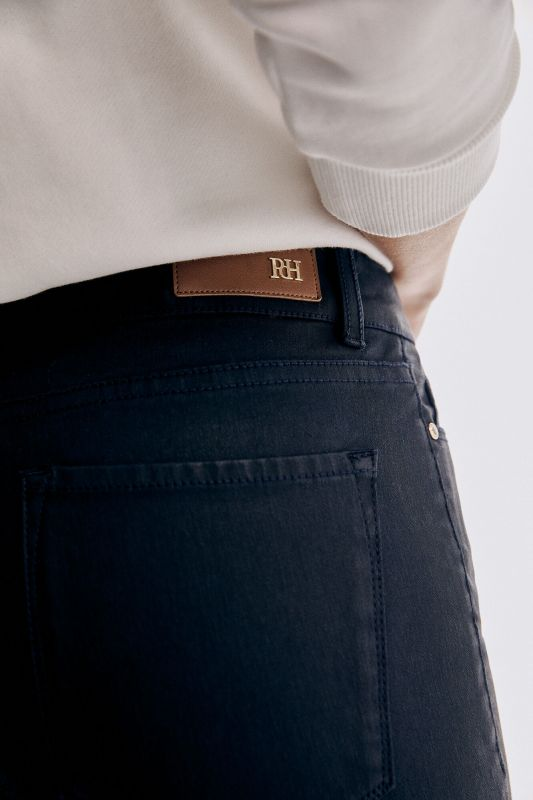 Skinny fit rubber-effect jeans