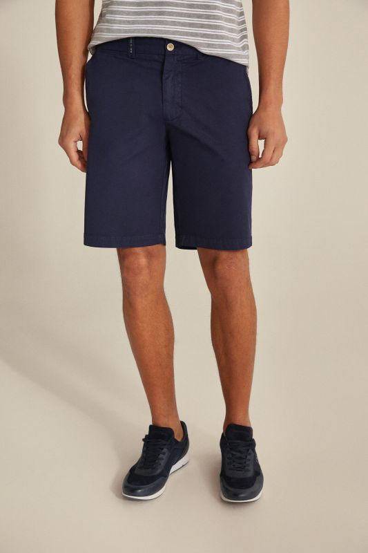 Essential plain pima cotton Bermuda shorts