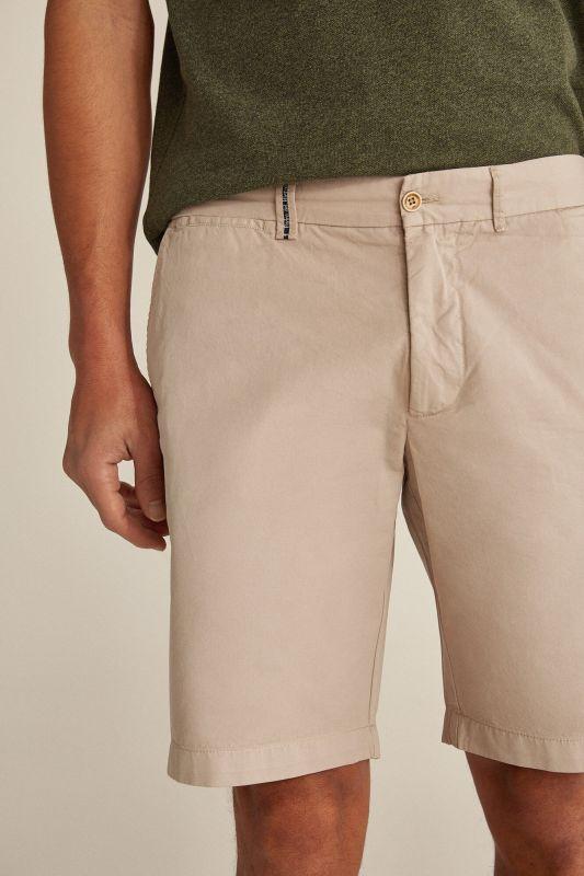 Essential plain pima cotton Bermuda shorts