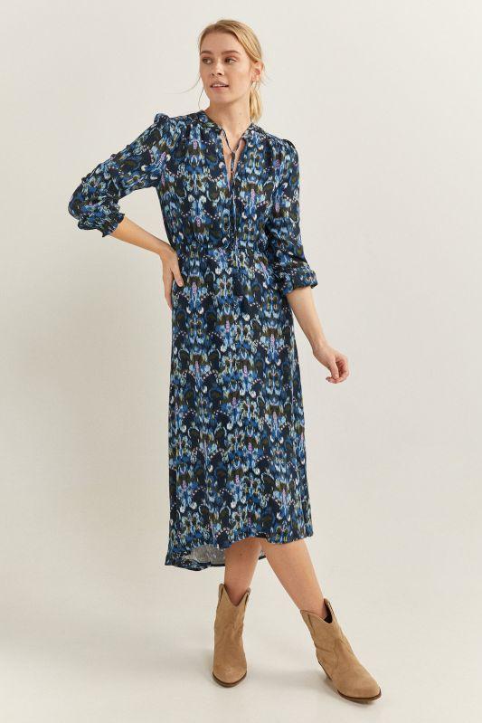 Ethnic Print Midi Dress