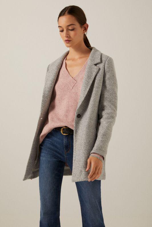 Long grey blazer