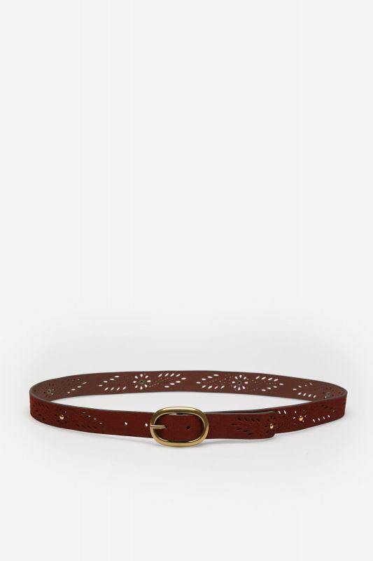 Suede Leather Cutwork Belt