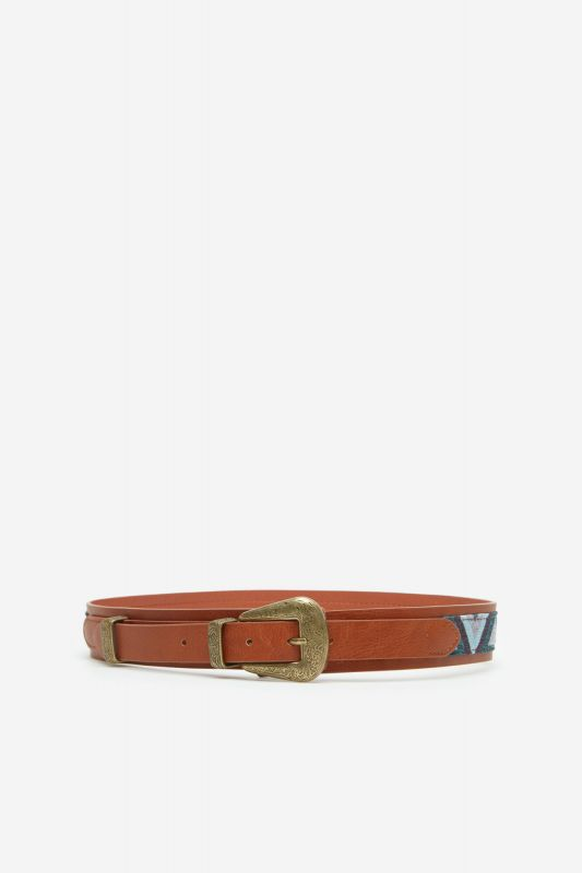 Combined fabric belt