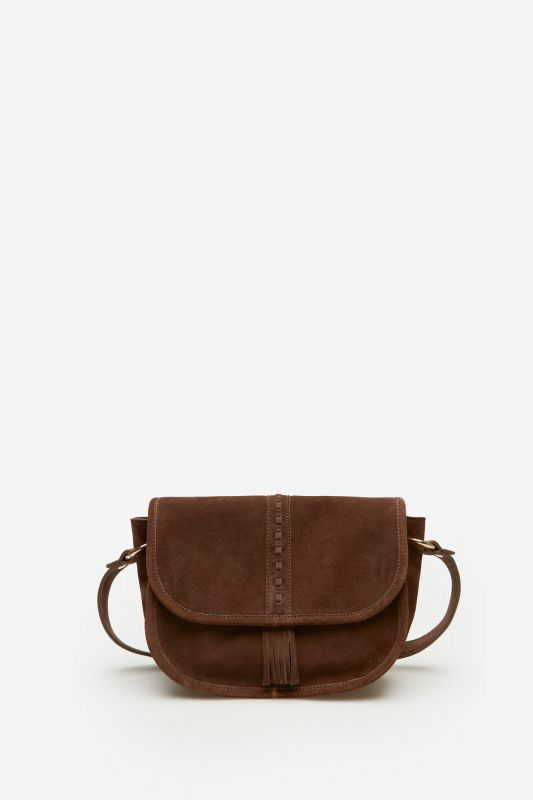 Split Leather Saddle Bag