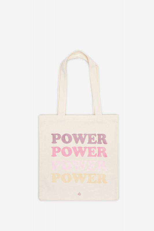Slogan canvas shopper
