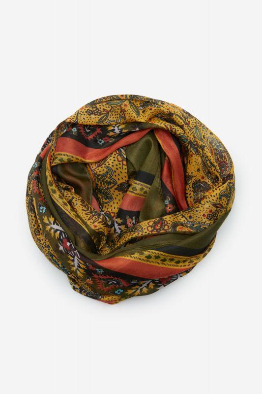 Mixed print scarf