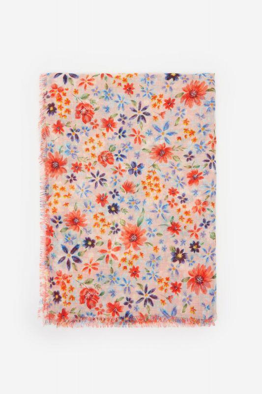 Patchwork floral print scarf