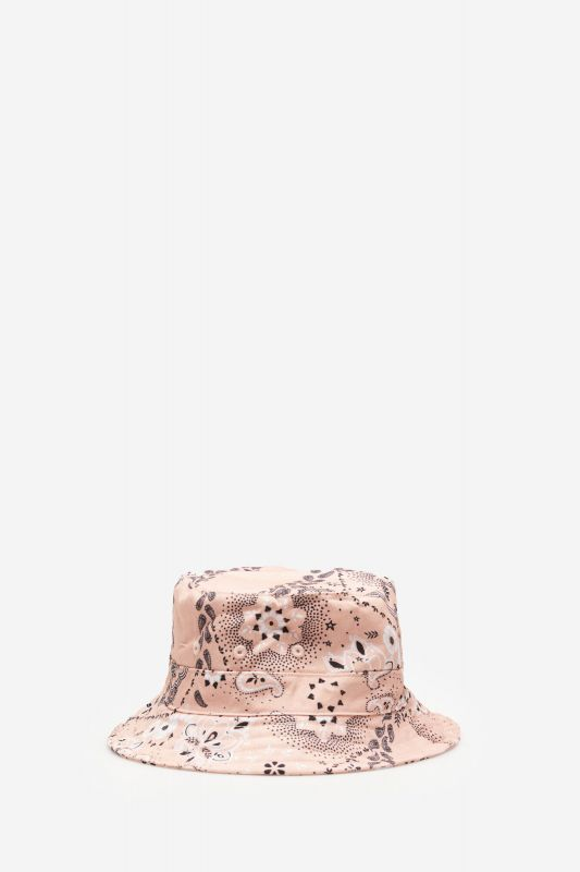 Bandana print canvas hat