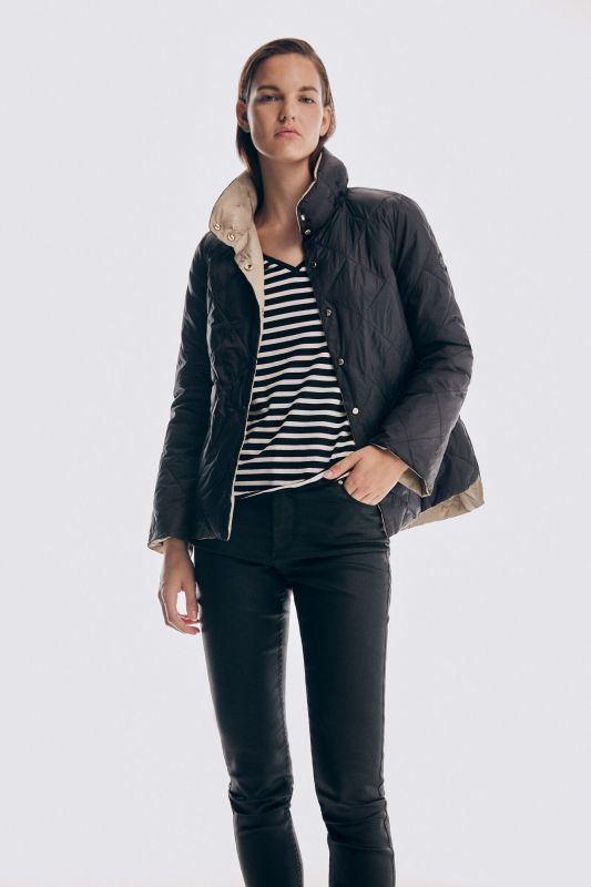 Ultralight A-line reversible coat
