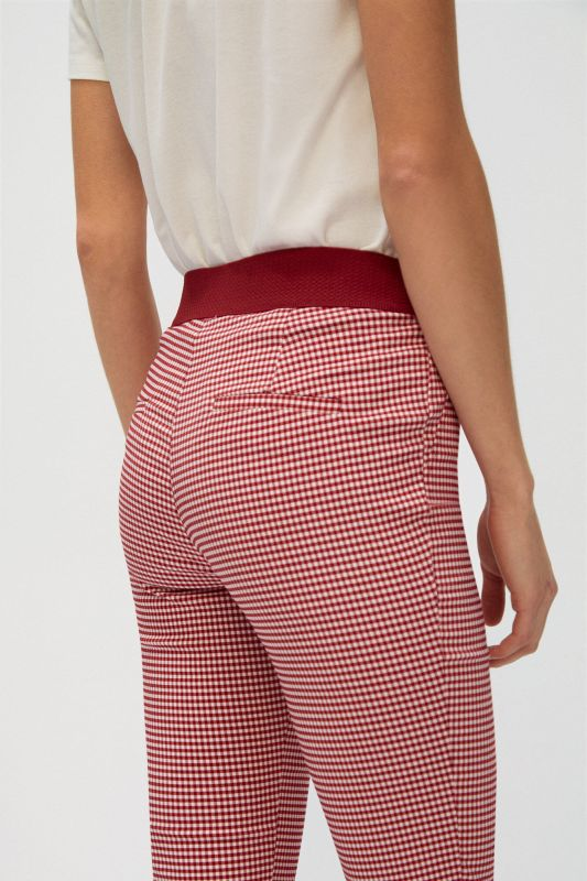 Skinny fit high waist comfort trousers
