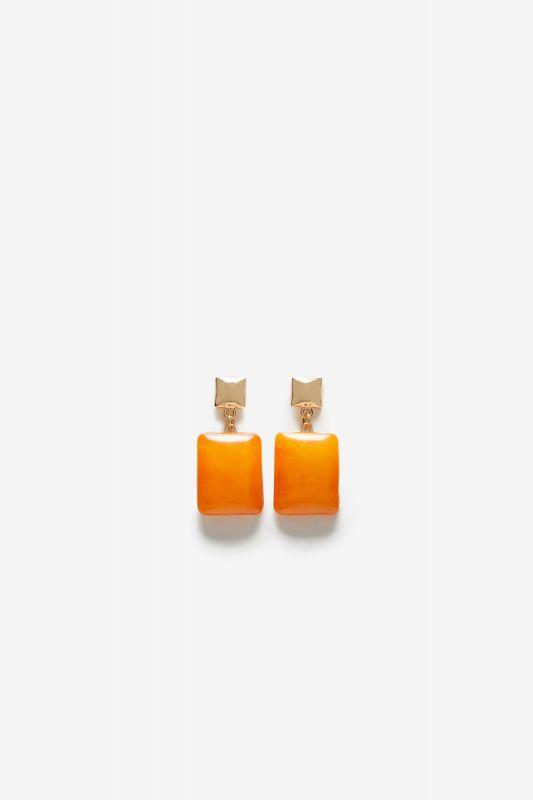 Square resin earrings.