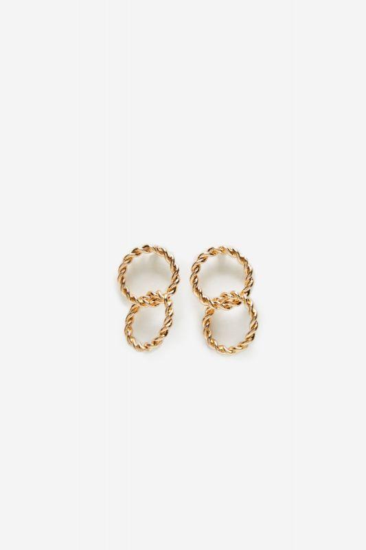 Plaited hoop earrings