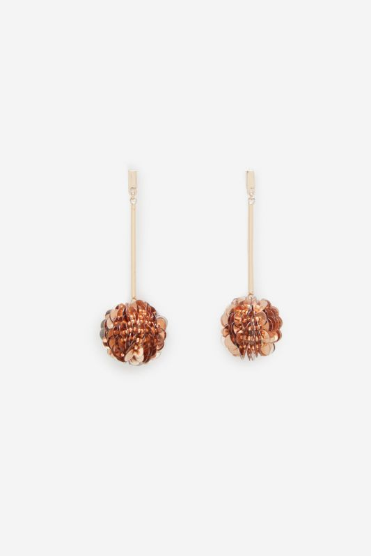 FLOWER EARRINGS WITH BEADS AT THE CENTRE