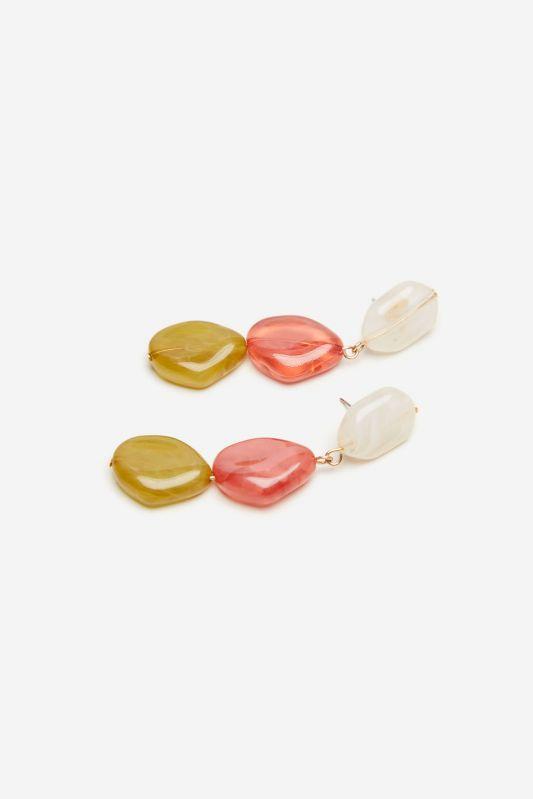 Resin stones earrings