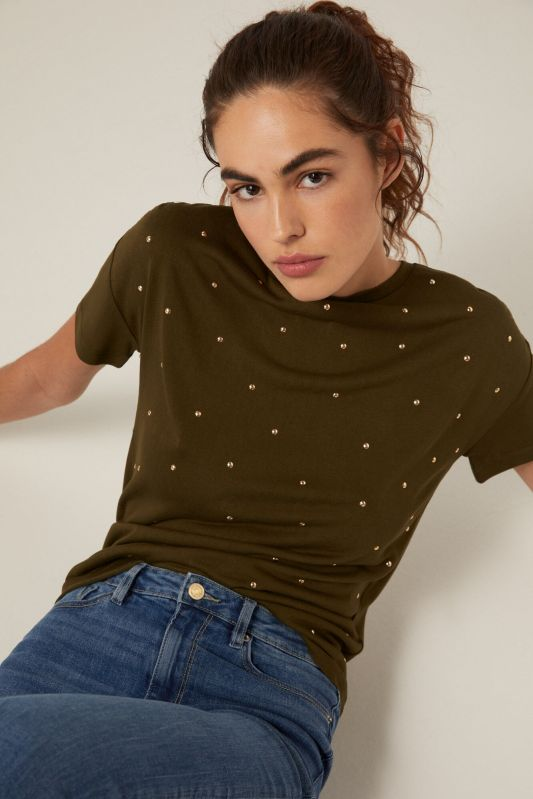 Pearl front T-shirt