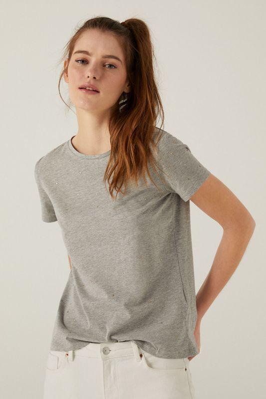 Crystal studs t-shirt