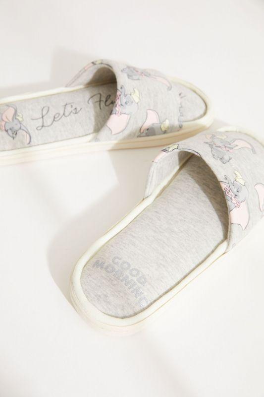 Grey Dumbo mule slippers