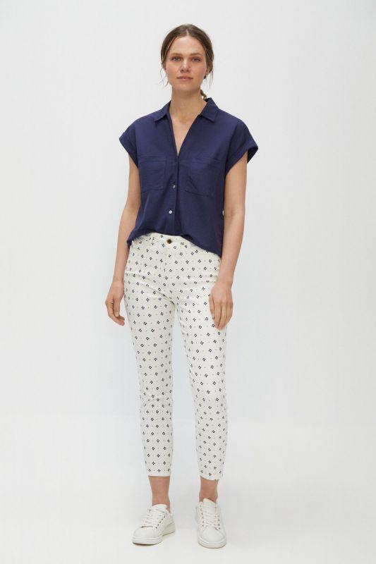 Sensational fit jacquard skinny trousers